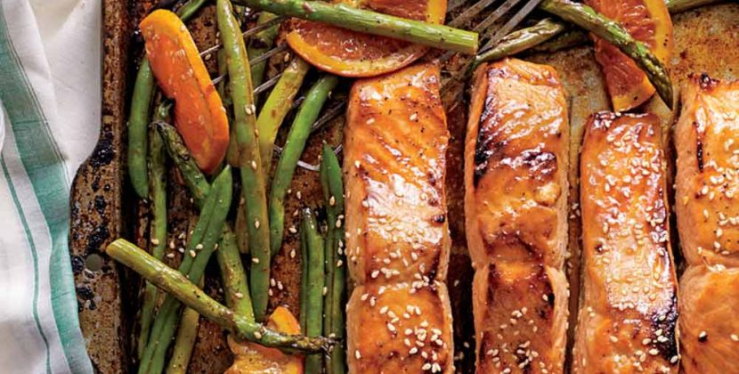 Honey-Soy-Glazed Salmon with Veggies